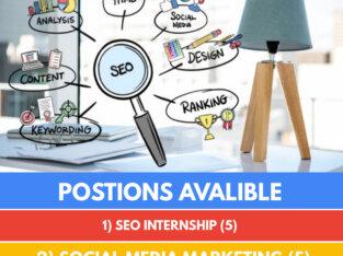 We are Hiring SEO & Digital Marketing Internees for online work