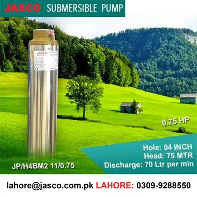 0.5 HP 3 inch Submersible missile Pump 100% Copper Jasco