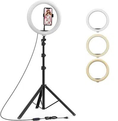 26CM ringlight with mobile holder with 7Feet stand – Tiktok Ringlight