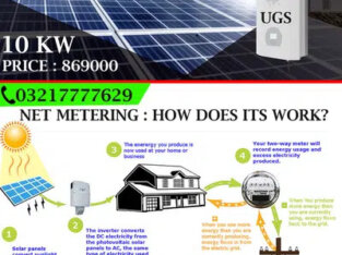 Solar System Solution 10KW With Net Metering Option & Complete Backup