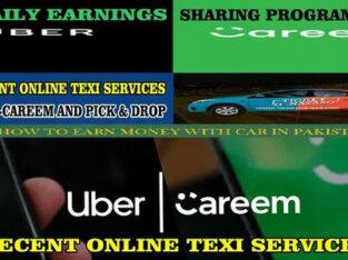 Careem Uber main Car mira Chalwain daily/rozana amadani/income Kamain.
